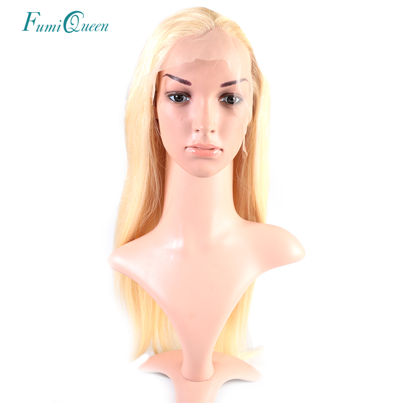 Ali Fumi Queen Hair Products Straight Brazilian Remy Human Hair lace front Wig 130% Density Swiss Lace With Natural Hairline