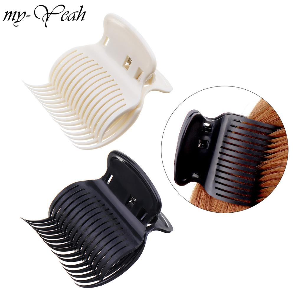 1 Pcs Plastic Hair Claw Clip Women Girls Hairpin Crab Shape Barber Hair Cutting Clamp Holding Hair Styling Tool
