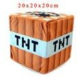 Новое Прибытие 20 см Minecraft TNT Плюшевые Игрушки Minecraft TNT Плюша игрушки Мини-Бомбы Игрушки Мягкие Мультфильм Игра Игрушка для Детей Подарки