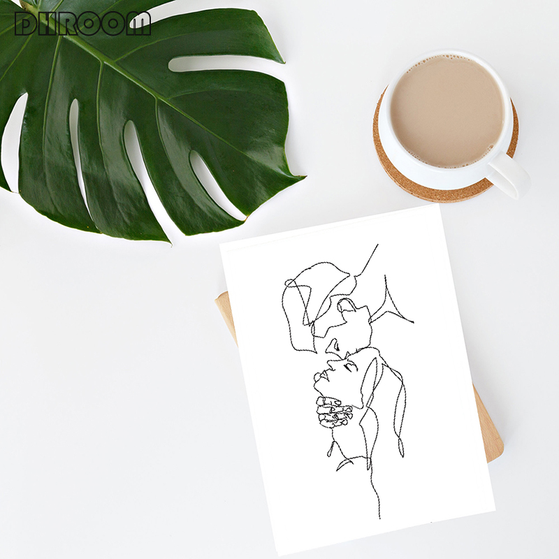 Minimalist Kissing Wall Art Couple Kiss Poster Prints One Line Drawing Canvas Painting Love Definition Wall Minimalist Kissing Wall Art Couple Kiss Poster Prints One Line Drawing Canvas Painting Love Definition Wall Poster Bedroom Art