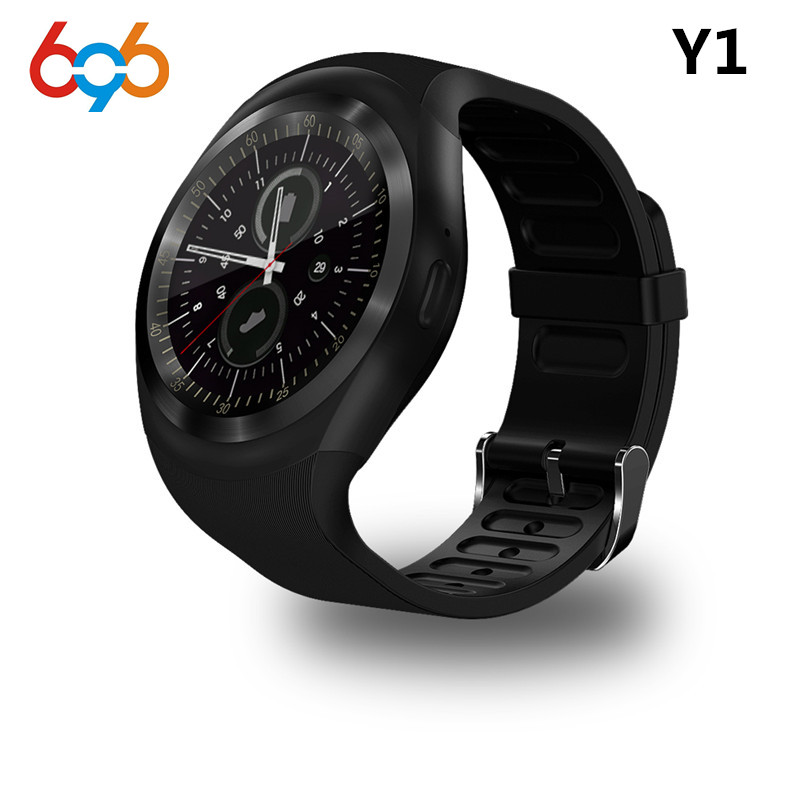 EnohpLX Y1 Smart Watch Round Support Nano SIM &TF Card With Bluetooth 3.0 Men Women Business Smartwatch For Android&IOS Android meanit m5