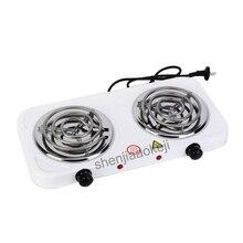 Электрическая печь с двумя головками, кухонная плита, бытовая нерадиативная печь, горелка для металла подогреватель кофе, EU plug1pc