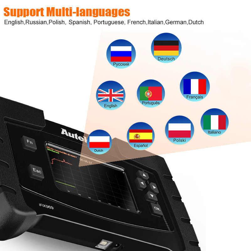 Autek IFIX969 автомобильный диагностический Полный Система Автомобильный сканер подушка безопасности; abs EPB DPF SAS Масляный Сброс диагностический инструмент OBD2 сканер