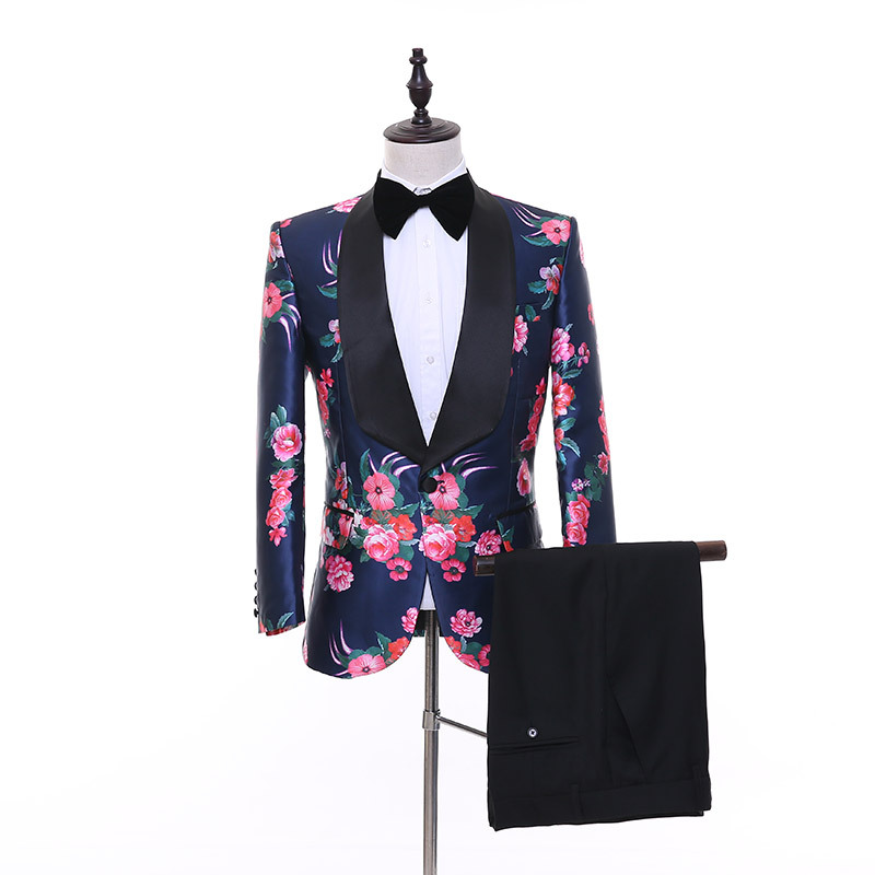 ho new 2020 best man suit business casual clothing printing suit men's cultivate one's morality