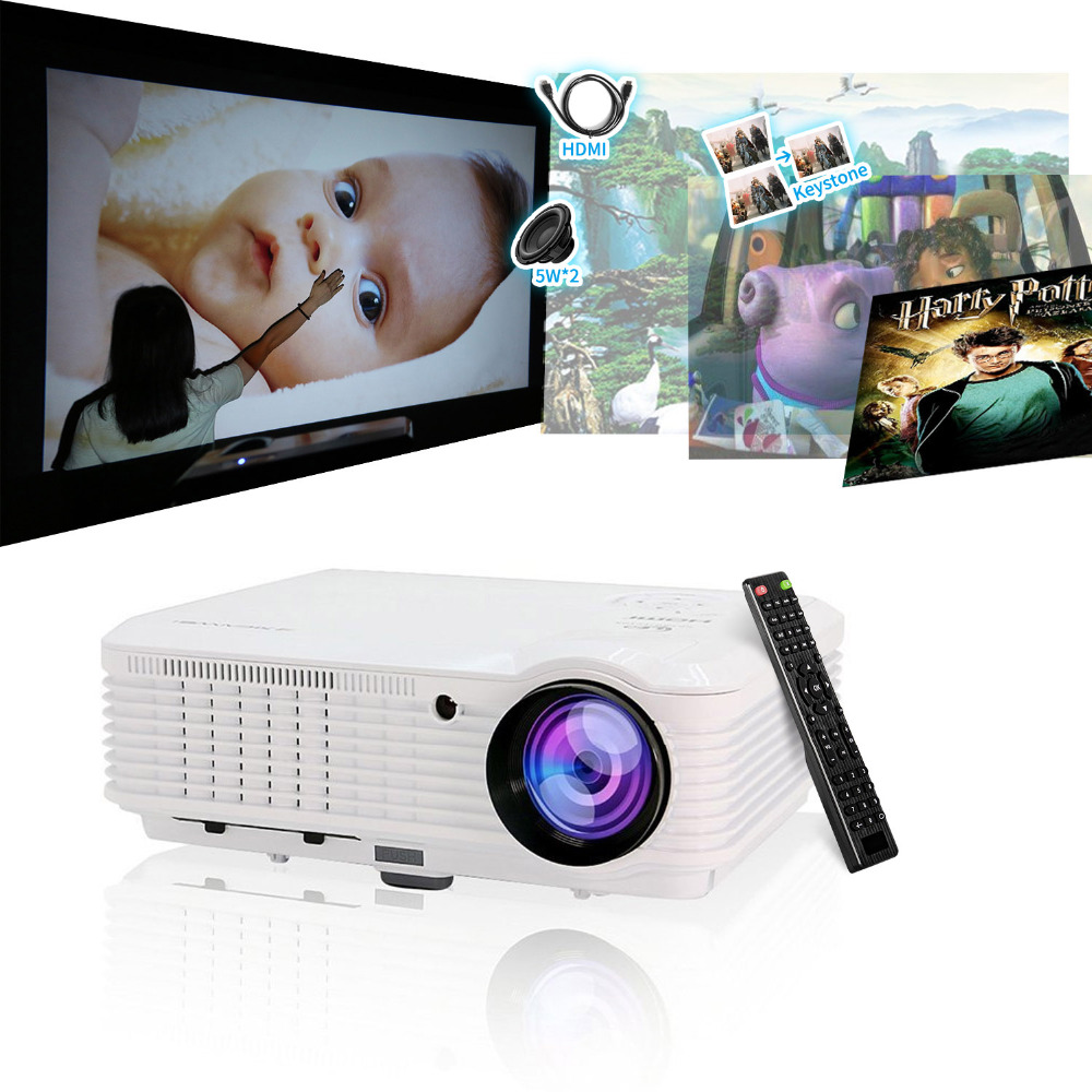 Caiwei Digital Led Projector Home Theater Beamer Lcd: CAIWEI LCD LED Projector Home Theatre Proyector Full HD