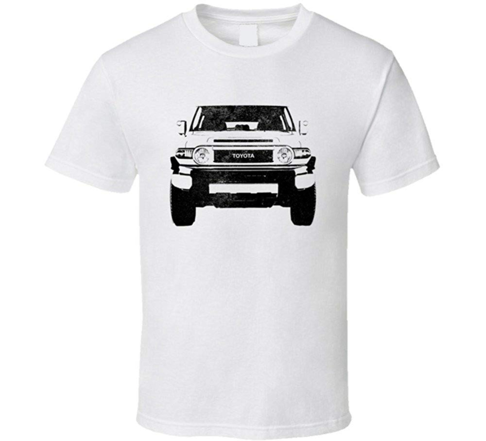 2010 Fj Land Cruiser Grill View Distressed Light Color T Shirt 2018 Newest Men'S Funny Fashion Classic Band T Shirts