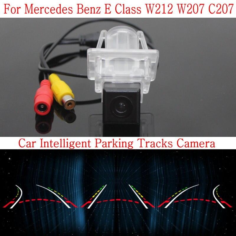 Lyudmila Car Intelligent Parking Tracks Camera FOR Mercedes Benz E Class W212 W207 C207 / HD Back up Reverse Rear View Camera lyudmila car intelligent parking tracks camera for hyundai creta ix25 2014 2017 hd back up reverse car rear view camera