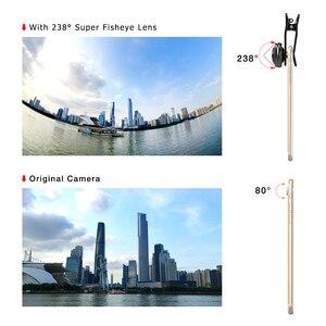 Image 4 - Apexel אוניברסלי טלפון עדשת סופר 238 תואר עין דג עדשה 0.2X מלא מסגרת רחב זווית עדשה עבור iPhone 7 8 x בתוספת xiaomi samsung