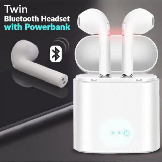 Hot Bán i7s TWS Bluetooth Stereo Tai Nghe Nhét Tai Không Dây Tai Nghe Có Sạc Hộp Mic Cho iPhone Xiaomi Huawei Tất Cả Điện Thoại
