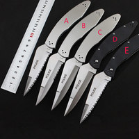 58HRC Police C07 Knife VG 10 Serrated Blade Folding Knife All Steel Or G10 Handle Camping