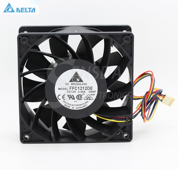 Delta FFC1212DE -S96P 12CM 120mm 12038 DC 12V 2.4A industrial server inverter power supply cooling fans original delta afc1212de 12038 12cm 120mm dc 12v 1 6a pwm ball fan thermostat inverter server cooling fan