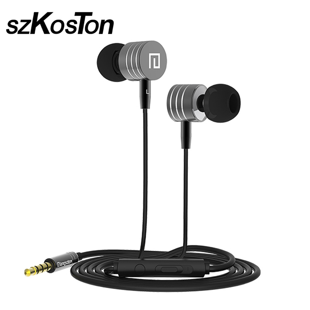 Langdom i-7 Wire Control Earphone With Mic 5 Colors Blue Black Rose Gold Silver For Android/IOS Smartphone Xiaomi iphone ipad PC em290 copper wire earphone in ear with mic clear 3d sound quality handsfree call for android ios smartphone oppo xiaomi mp3 pc
