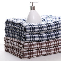 100 Cotton Stripe Bath Towel With Black And Coffee Stripe For Men Quick Drying Bath Towels