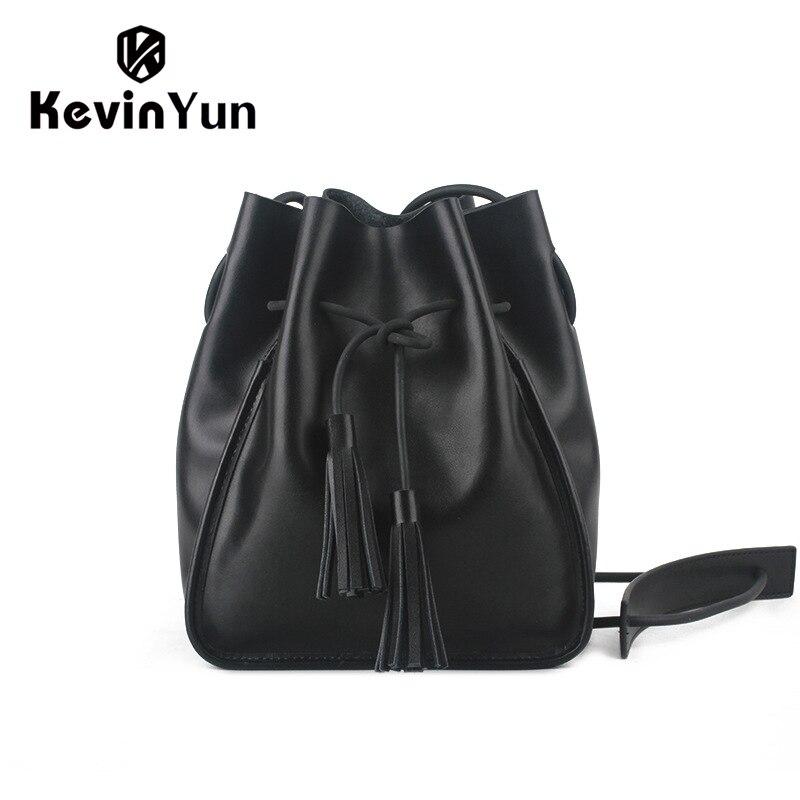 Кевин Юн Роскошные Для женщин Настоящая кожа сумка модельера ведро Сумки дамы Для женщин Курьерские сумки