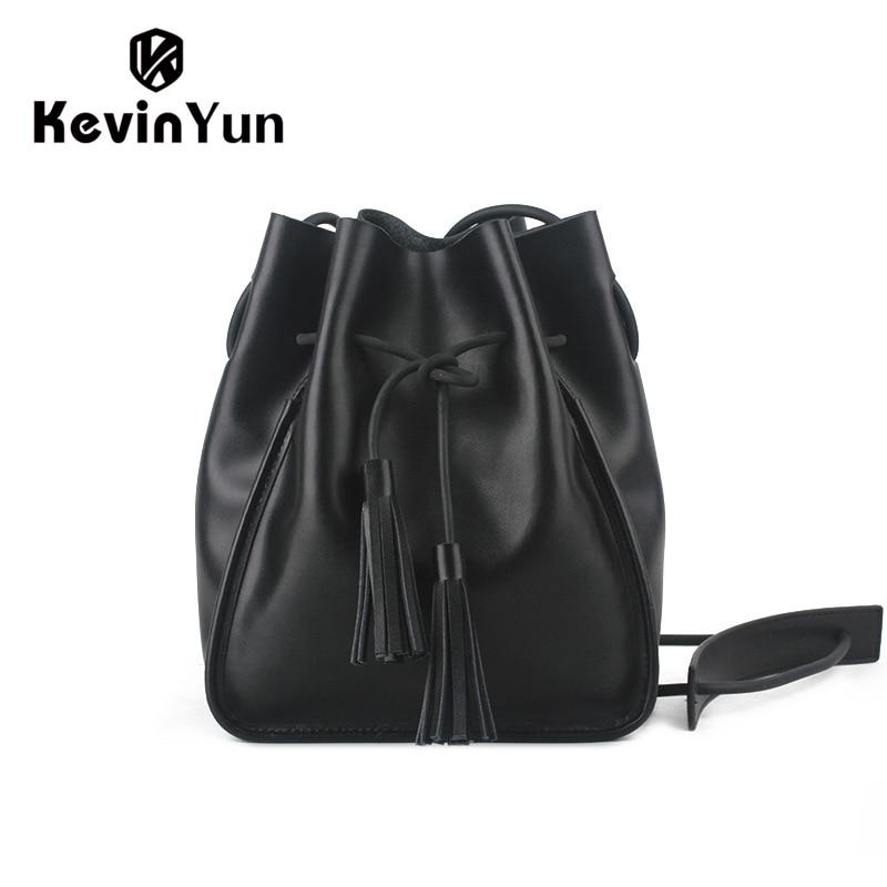 KEVIN YUN Luxury Women Genuine Leather Bag Fashion Designer Bucket Bags Ladies Women Messenger Bags kevin alan milne heategu mis muutis kõike