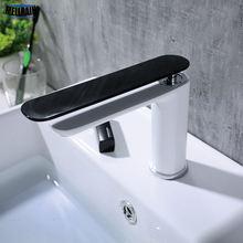 Однотонный латунный черно белый смеситель для раковины простой