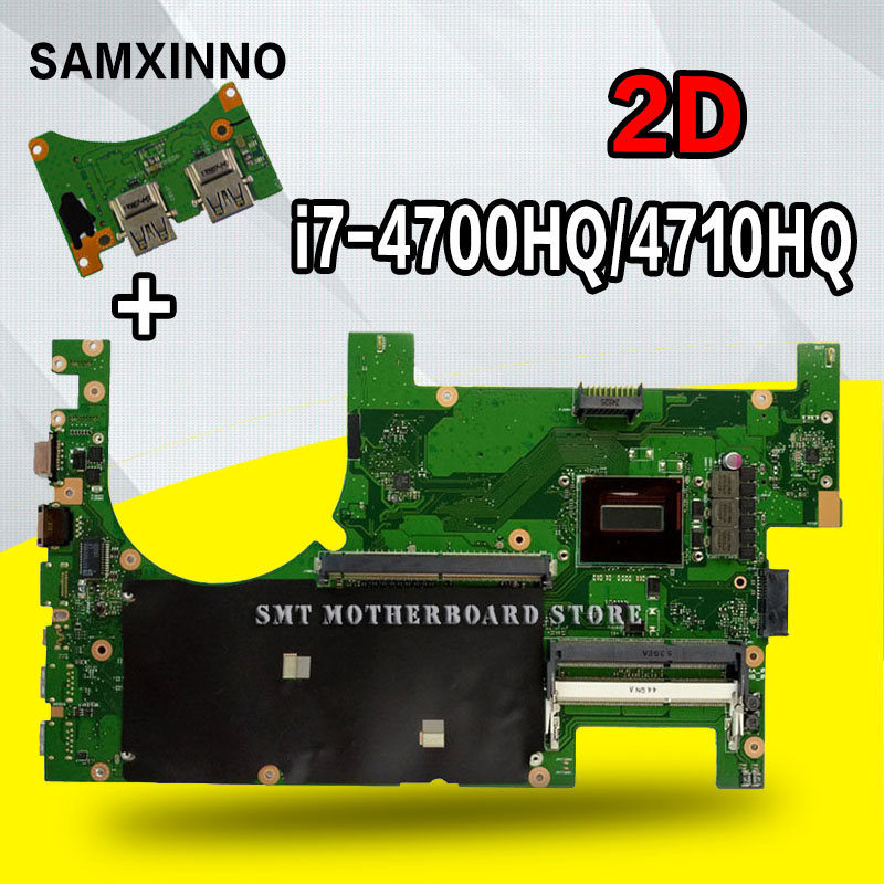 Send board +2D I7-4700HQ G750J Laptop motherboard for ASUS G750JS G750JM G750JW G750JH G750JX G750JZ Test OK original mainboard цена