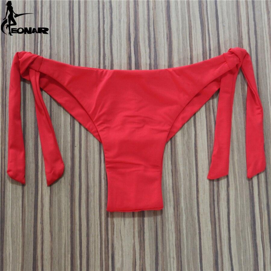 2020 Sexy Solid Thong Bikini Brazilian Cut Swimwear Women Bottom Adjustable Briefs Swimsuit Panties Underwear Thong Bathing Suit 3