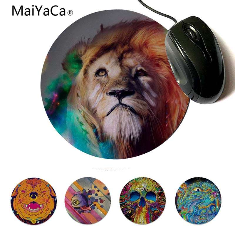 MaiYaCa Vintage Cool D color dog small Mouse pad PC Computer mat Round mouse pad 22x22cm 20x20cm