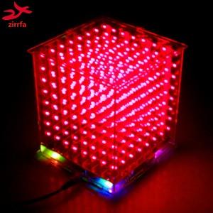 Image 5 - Gorąca sprzedaż 3D 8S 8x8x8 mini led światło elektroniczne cubeeds diy zestaw na prezent na boże narodzenie/noworoczny prezent