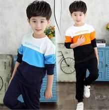 Sweater For Boys Clothing Sets Printing Letter Chidren sTracksuits Spell Color Disfraz Infantil Fashion Pants Suit