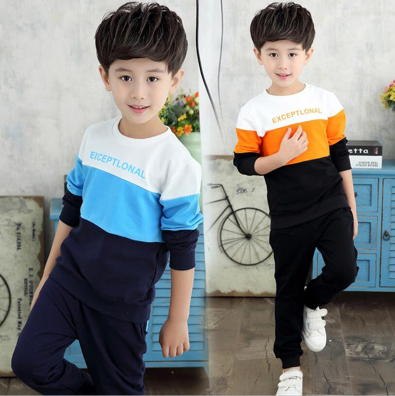 Sweater For font b Boys b font Clothing Sets Printing Letter Chidren sTracksuits Spell Color Disfraz