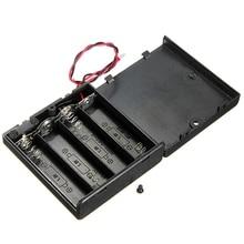 6V 4 X AA support de batterie support de fente boîte de rangement en plastique avec fils de commutateur OFF/ON pour pièces RC pour sortie DC 6V