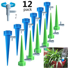 12/15/24PCS automatic adjustable flow watering device switch control valve drip irrigation Automatic Watering Spikes Irrigation