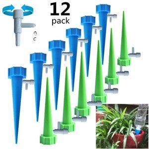 Image 1 - 12/15/24PCS dispositivo di irrigazione a flusso regolabile automatico interruttore valvola di controllo irrigazione a goccia irrigazione automatica punte irrigazione