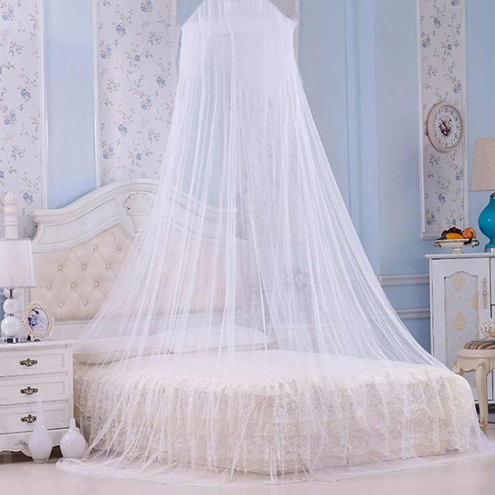 New White House Bed Lace Netting Canopy Circular Mosquito Net Mosquitera Malla De Mosquito