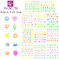 YG001-022 Newest Hot Sales Lovely Luminous Nail Art Stickers Decals Decoration diamond smile& eye star Design Free Shipping