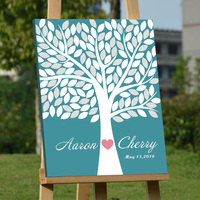 Personalized Fingerprint Wedding Guest Book Tree Alternatives Wedding Fingerprint Tree Wood Frame Guestbook DIY Signature Book