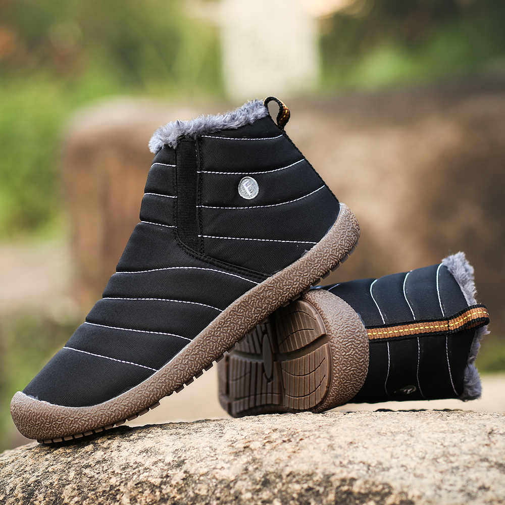 Men Snow Boots Winter Fashion Cotton Shoes waterproof Outdoor Man Casual Shoes Man Ankle Boots Warm Walking Men Boots 45 46 47