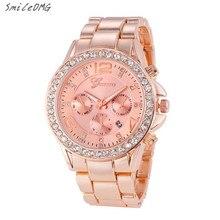 SmileOMG Hot Watch HOT Luxury Geneva Watch Women's Date Stainless Steel Quartz Analog Wristwatch Gift ,Sep 12