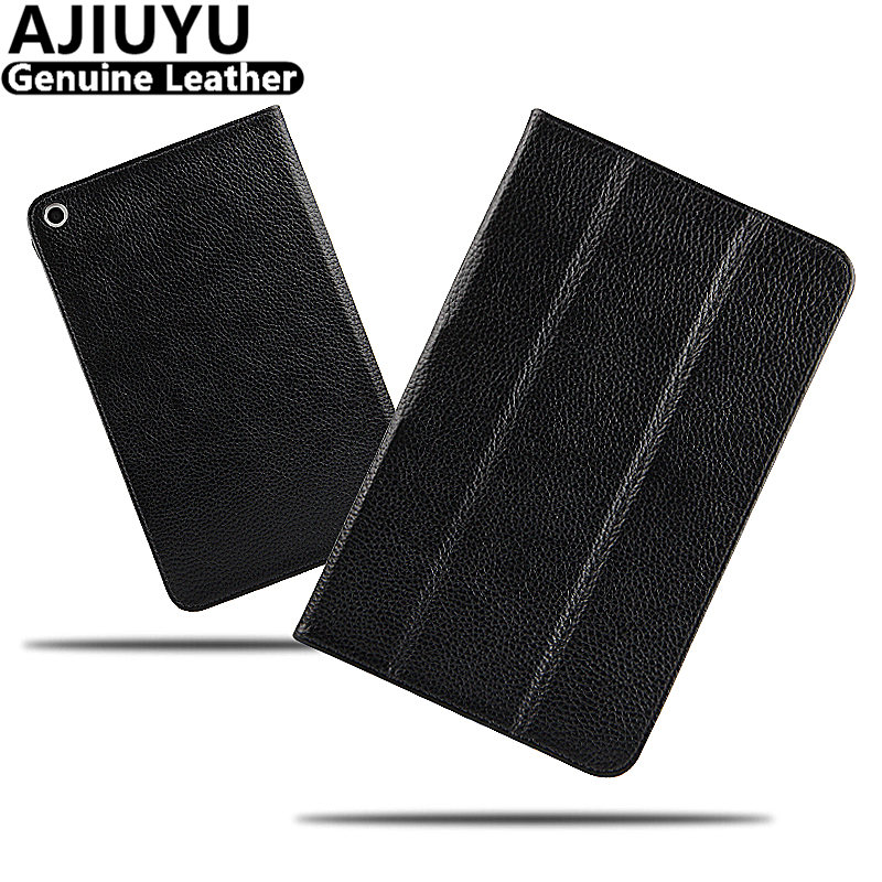 Genuine Leather For Huawei MediaPad T1 8.0 T1 8 Case Smart Cover Honor Tablet T1-821W T1-823L S8-701u 701w 8 Protective Cowhide mediapad m3 lite 8 0 skin ultra slim cartoon stand pu leather case cover for huawei mediapad m3 lite 8 0 cpn w09 cpn al00 8