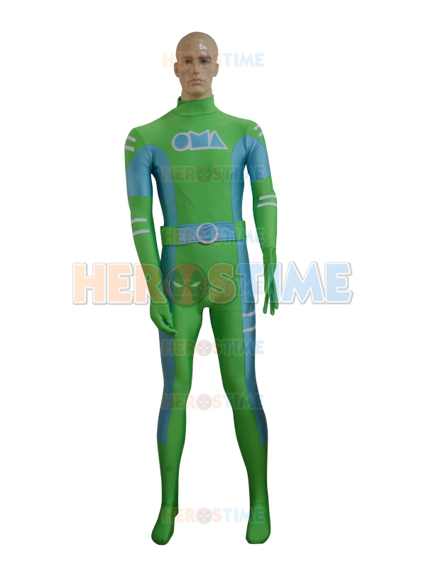 Newest Green & Sky Blue Spandex Superhero Costume halloween cosplay party  zentai suit Hot Sale For Adult/Kids/Custom Made