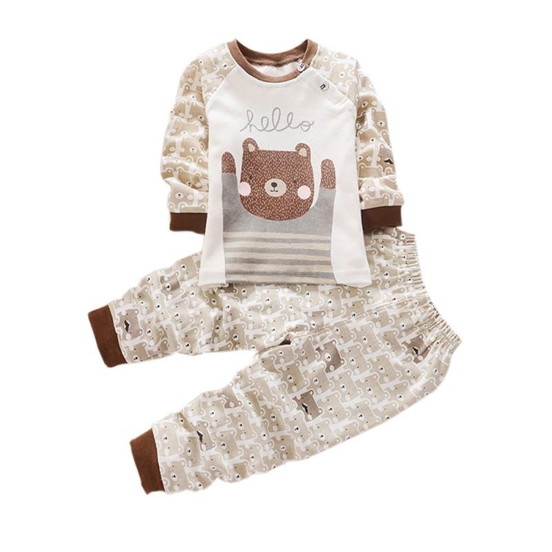 Cute Cartoon 2pcs Infant Baby Boys And Girls Long Sleeve Shirt + - Ropa de ninos