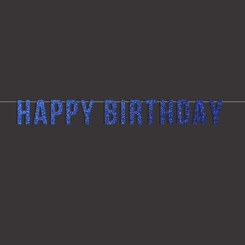 Happy Birthday Banner Party Decorations8 Colors Glitter Photo Props65th85th