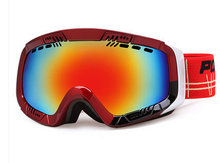 ПОЛИЗ зимой на открытом воздухе Лыжный снег очки двойной Анти-туман слой линзы Лыжи сноуборд очки uv400 мужчин женщин снегоход очки