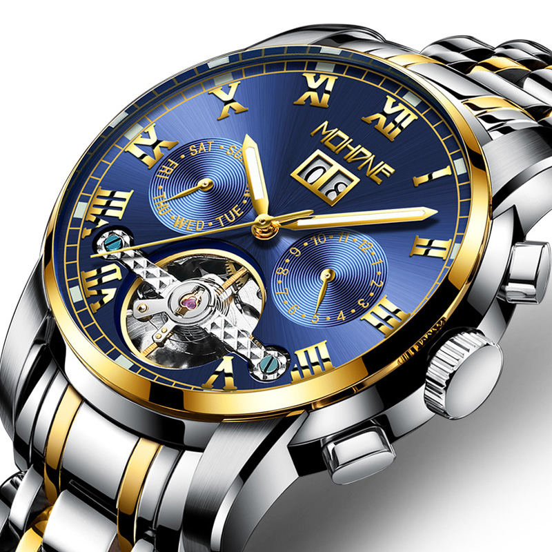 Fngeen Gold Automatic Mechanical Watch Fashion Mens WatchesTop Brand luxury Business Watch Otomatik Saat Cube Man clock 25 fngeen gold automatic mechanical watch fashion mens watches top brand luxury business watch otomatik saat cube man clock 25