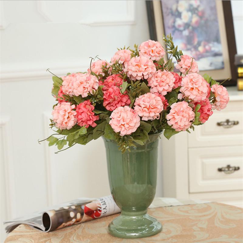 pretty cabeza inglaterra bola crisantemo flores ramo para el partido casero decoracin de la
