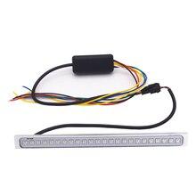 24LED номерных знаков Lights190MM x 15 мм Красочные ходовые огни дневного DRL Вождения поворотов Световой индикатор