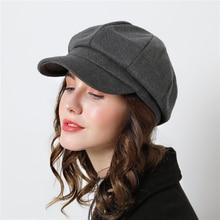 Women Cotton Wool Vintage Cap