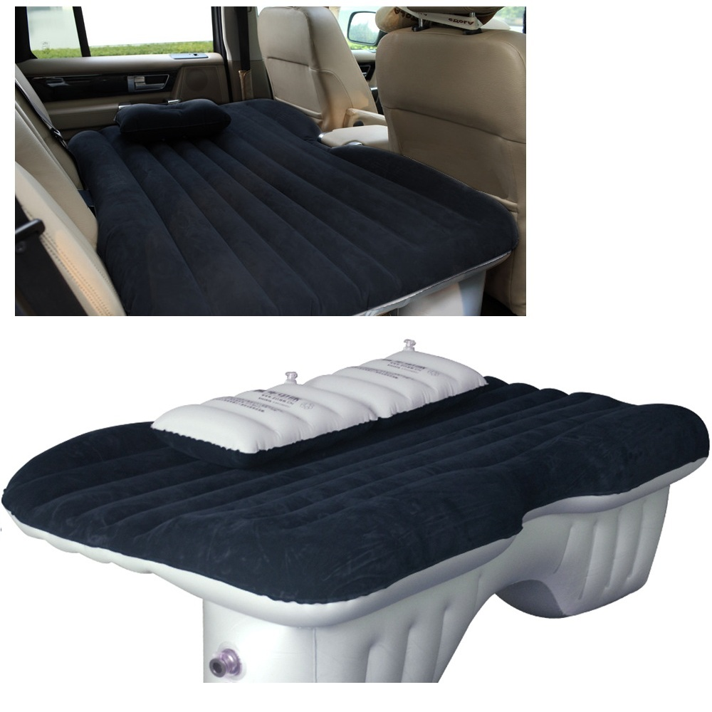 купить Car Air Mattress Travel Bed Back Seat Cover Inflatable Cushions Flocking Surface Multifunction for Camping Journey недорого