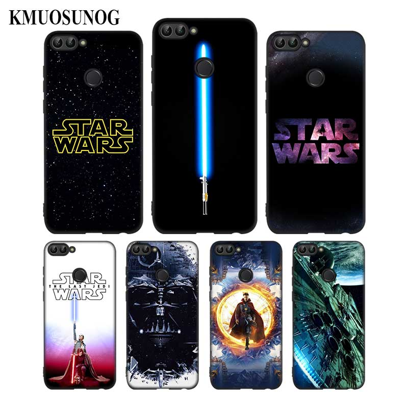 For Huawei P8 P9 P10 P20 P30 Pro Lite P Smart Plus Y6 Y9 2017 Black Soft Silicone Phone Case Star Wars Style in Fitted Cases from Cellphones Telecommunications