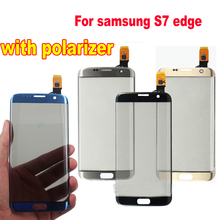 1pcs Front Glass Touch Screen Digitizer Panel For samsung Galaxy S7 Edge S7edge G935 G935F with polarizer LCD Outer Panel Part