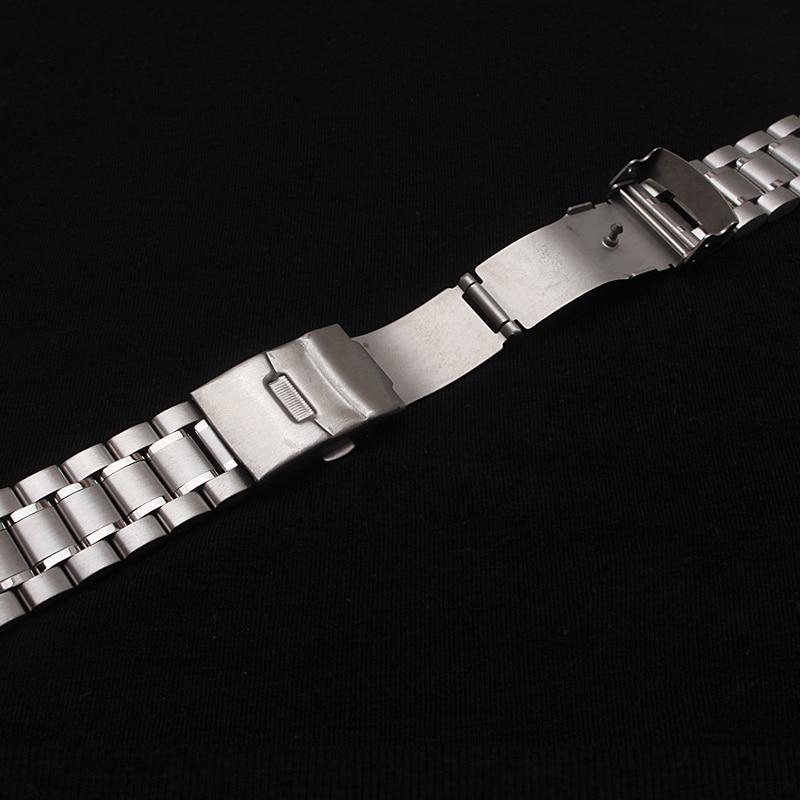 Neue Heiße Verkauf Mann Frau Silber Solide Edelstahl Metall Curved - Uhrenzubehör - Foto 6
