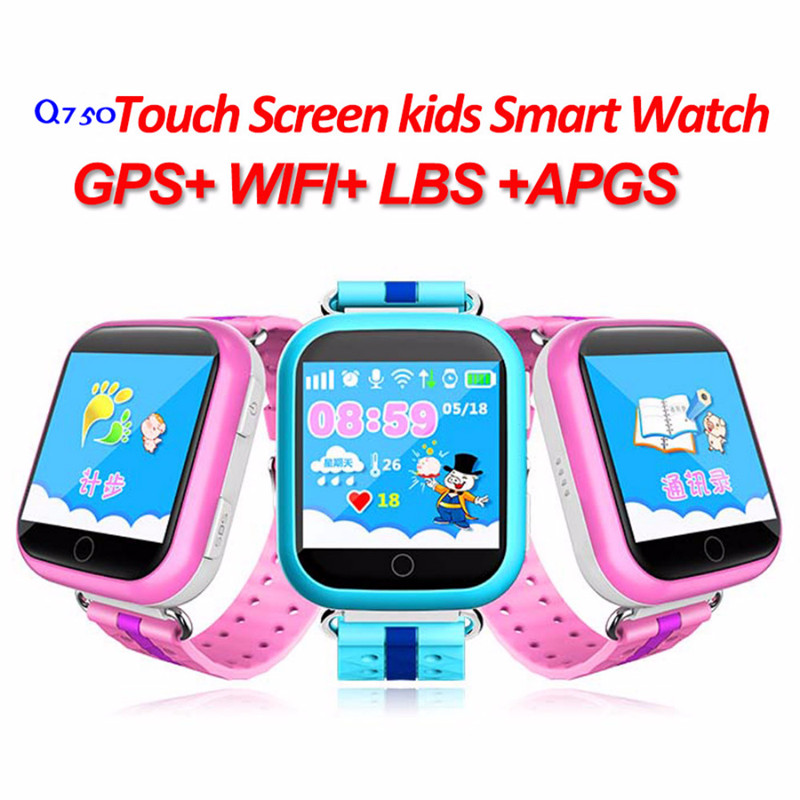 (10Pcs/Lot) Q750 WIFI 1.54 Touch Screen Kids Early Learning Smart Baby Watch Anti-dropped Alarm SOS Call Tracker Pedometer