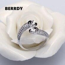 2 اللؤلؤ موضة خاتم اللؤلؤ حوامل ، والنتائج حلقة ، وقطع غيار خاتم إكسسوارات جذابة مجوهرات فضية