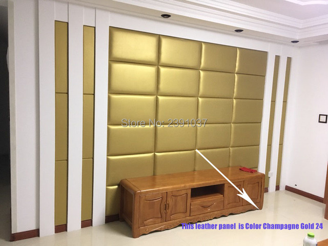 Modern Style Leather Panel luxury decorative art TV Room sofa ...